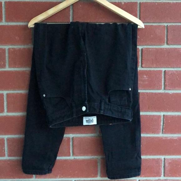 Everyday basic black mom jeans
